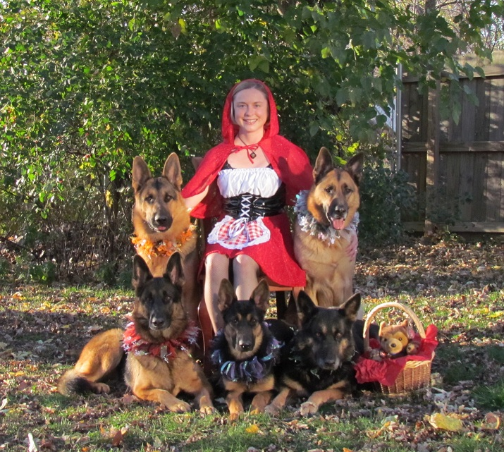 Lil' Red Riding Hood & Her Pack of Wolves!!